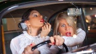 Подборка аварий дтп с женщинами за рулём аварии дтп приколы 2017