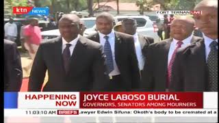 DP Ruto's arrival during Joyce Laboso's Burial in Fort Ternan