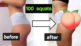 I Did 100 Squats EVERY DAY *amazing Results*