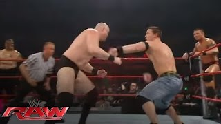 John Cena & Randy Orton battle the entire Raw roster: Raw, March 17, 2008