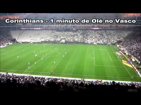 Corinthians aplica 1 minuto de olé no Vasco