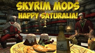 Skyrim Mods - С новым годом Скайрим|Saturalia Christmas In Skyrim