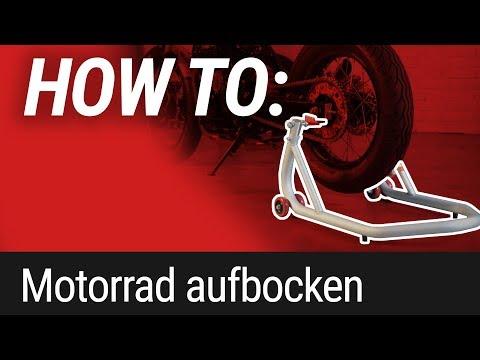 HOW TO: Motorrad aufbocken mit Motorradheber