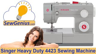 Singer Heavy Duty 4423 Sewing Machine Demo