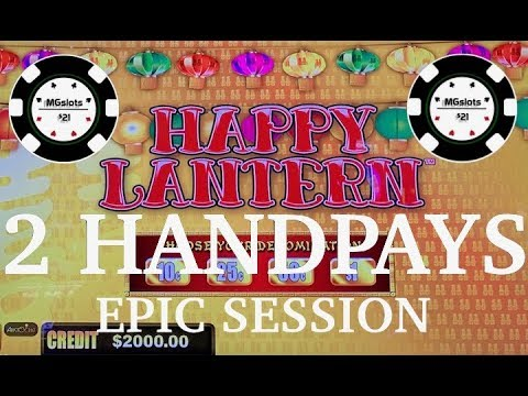 ⚡️(2) HANDPAYS LIGHTNING CASH HAPPY LANTERN HIGH LIMIT ⚡️LINK MOHEGAN SUN SLOT MACHINE