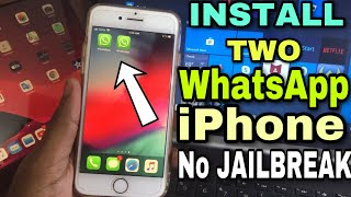 how to install two whatsapp in one iphone without jailbreak || Dual whatsapp for iphone