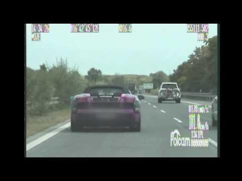 Cizinec v Lamborghini se řítil po dálnici rychlostí vyšší než 200 km/hod