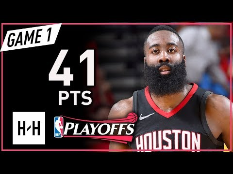 James Harden Full Game 1 Highlights Rockets vs Warriors 2018 NBA Playoffs WCF – 41 Points!