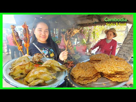 Something to do in Tonle Bati Resort! Food tour In Bati! Cambodia Travel food.