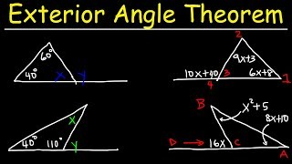 Exterior Angle Theorem For Triangles, Practice Problems - Geometry