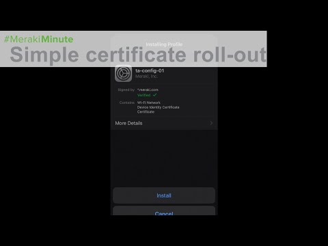 Meraki Systems Manager | Trusted Access - Simple certificate roll ...