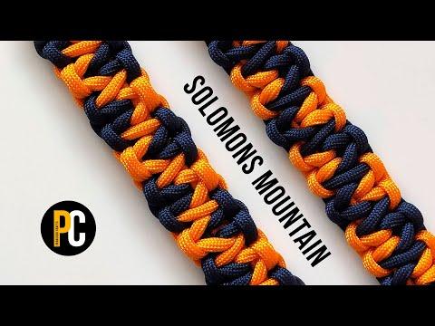 How to make Solomons Mountain | Paracord Bracelet tutorial