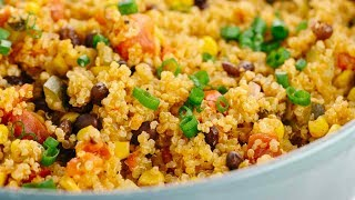 One pot Mexican spiced vegetable quinoa