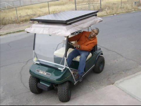 Carro de golf convertido a solar