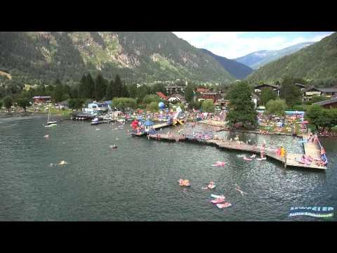 Schwimmbad und See Camping Mössler