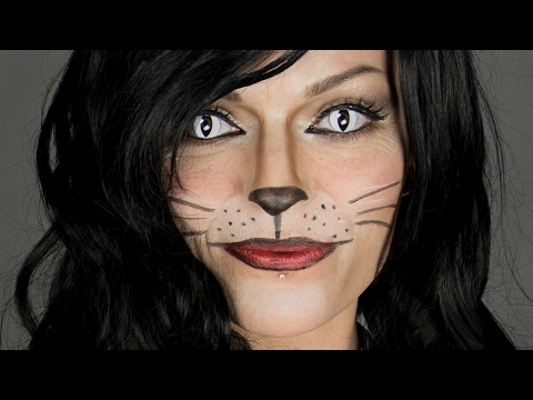 Katze schminken ❤ Last Minute Faschings & Halloween Schminkanleitung