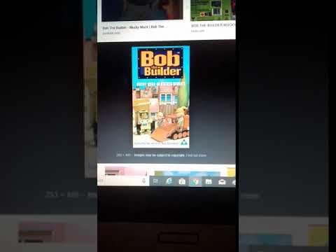 Bob The Builder Mucky Muck UK VHS