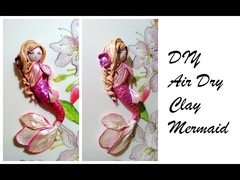DIY Clay Mermaid using Fevicryl Pearl Colours