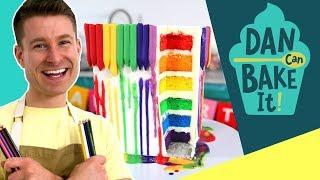 Dan Bakes a MELTING Crayon Cake  ️Challenge #11