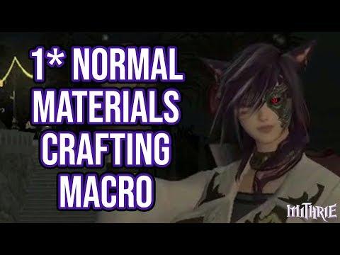 FFXIV 2 0 0126 Crafting Macro 2 Star 40 Dur (60 Sec Guide