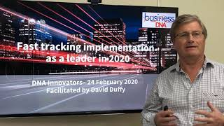 Fast tracking implementation as a leader in 2020.