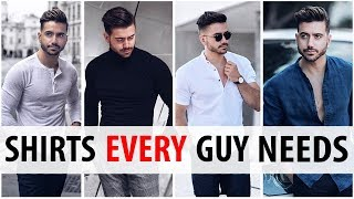 5 Shirts Every Guy Needs In His Wardrobe   Men's Style Essentials   Alex Costa 2017