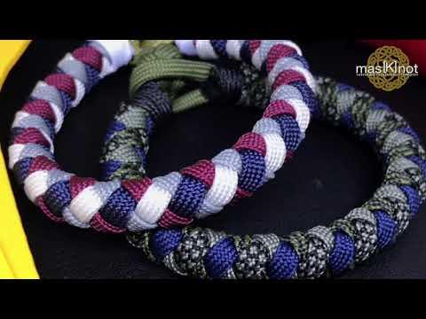 How to make 7 strand round braid rope / cord / bracelet