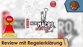 MicroMacro: Crime City  (nominiert zum Spiel des Jahres 2021) - Review und Regelübersicht