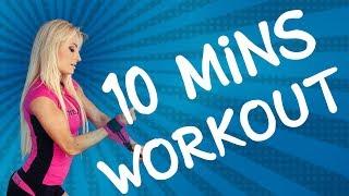 10 MINUTES WORKOUT: Celkově spalovací a tvarovací trénink na nohy a zadek