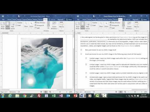 Opening Documents in Word