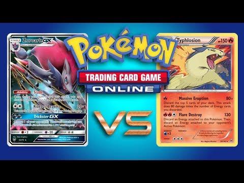 Lycanroc GX / Zoroark GX vs Typhlosion – Pokemon TCG Online Game Play