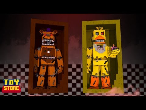 FNAF NIGHTMARE AT THE TOY STORE! - Minecraft Toy Store