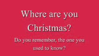 Faith Hill - Where Are You Christmas (Lyrics)