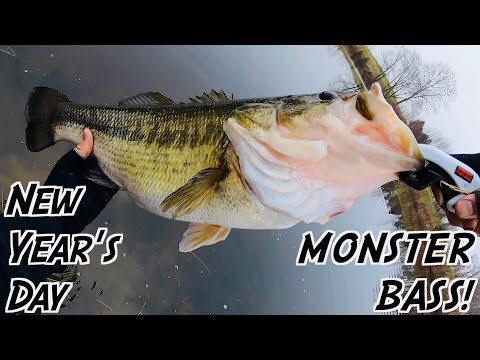 HE CAUGHT THE BIGGEST FISH OF HIS LIFE!!! Winter Fishing INSANITY On New Year's Day!
