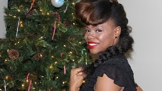 5 Naturalistas' Hairstyle Guide to the Holidays - Janelle Monae Inspired Natural Hairstyle