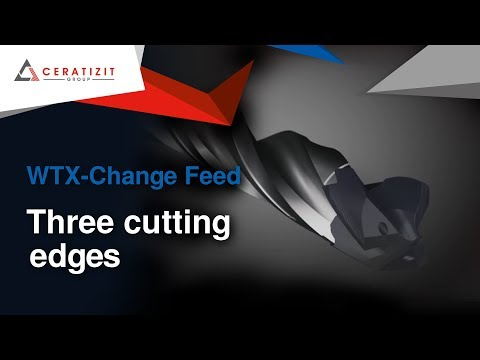 WNT WTX-Change Feed | Three cutting edges for even more drilling power