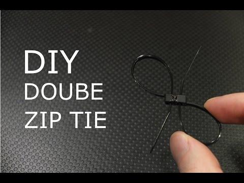 how to make double zip tie from zip ties