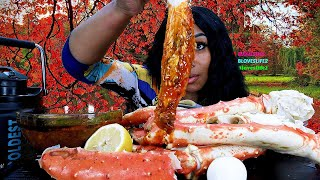 Seafood Boil Sunday, King Crab Legs, Eggs And Cucumber Mukbang