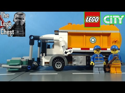 Vidéo LEGO City 60118 : Le camion poubelle