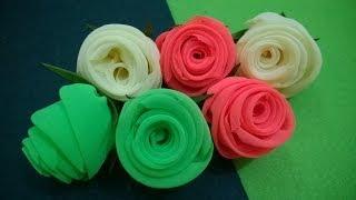 D.I.Y. Neon Chiffon Fabric Roses | MyInDulzens