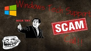 Microsoft Windows Tech Support Scam Call! Full Call Recording!