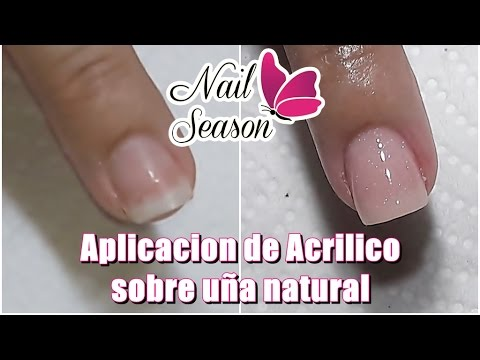 Acrilico en uñas naturales para principiantes base completa