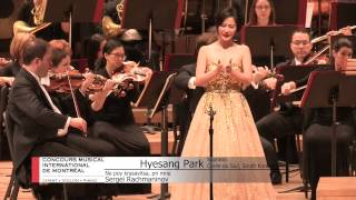 MIMC –  CMIM   2015 Voices/Chants  Final 1 - Hyesang Park (Soprano)