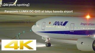 【4K Plane Spotting】[夜の羽田空港] Panasonic LUMIX DC-GH5 At Tokyo Haneda Airport [HND/RJTT]