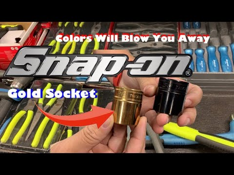 Snap On Loaded Tool Truck Today! Lots of colors, a golden socket and some strong fans