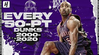 ALL 50-Point Dunks In NBA Dunk Contests (2000-2020)!