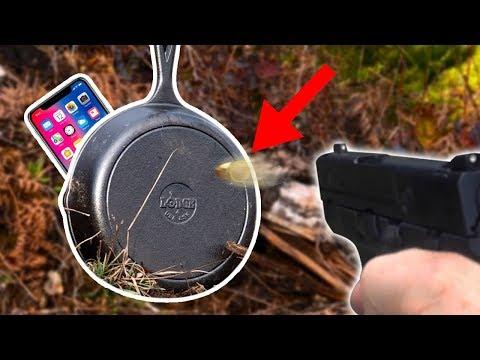 iPhone X trivellato di colpi, una padella lo proteggerà?