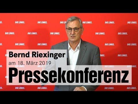 Pressekonferenz mit Bernd Riexinger