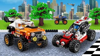 Lego  Excavator Truck and Police Car Fail