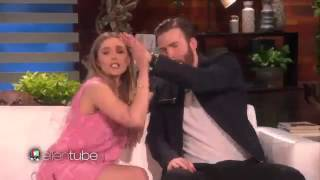 Chris Evans and Elizabeth Olsen's Chemistry (The Ellen Show)